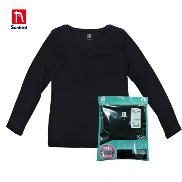 SUNBIRD男V領素面衛生衣 1